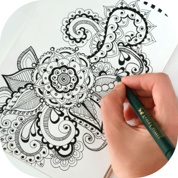 Hand drawing ornaments